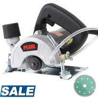 "Pearl Abrasive 5"" Handheld Saw with FREE 5"" DIA05TT Diamond Blade"
