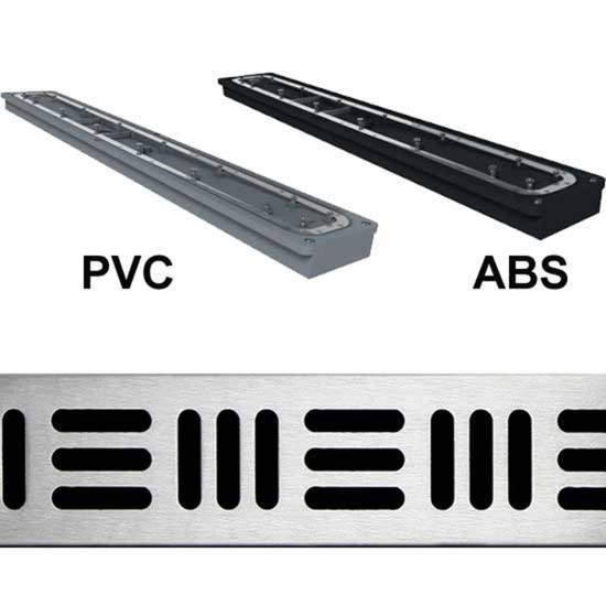 Noble Company Freestyle shower drains available ABS or PVC