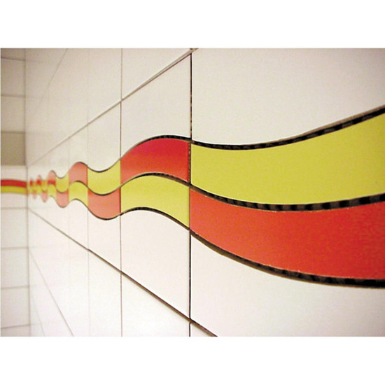 Special curved design with Montolit Combi Slalom