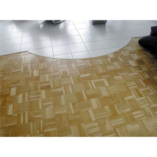 Curved porcelain gres tile floor cuts