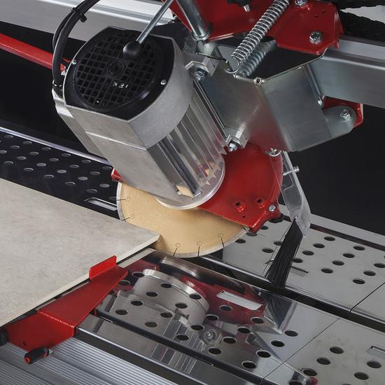 F1-131-115V Montolit Brooklyn F1 rail Saw Cutting Head tilts for a Jolly cut miter cut