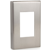 luxestat Satin Nickel Thermostat Cover Made of premium brushed steel