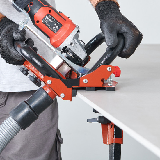 TCLF45DB Raimondi tool holder to perform 45 without rail 45° miter cut high quality finishing directly on construction site