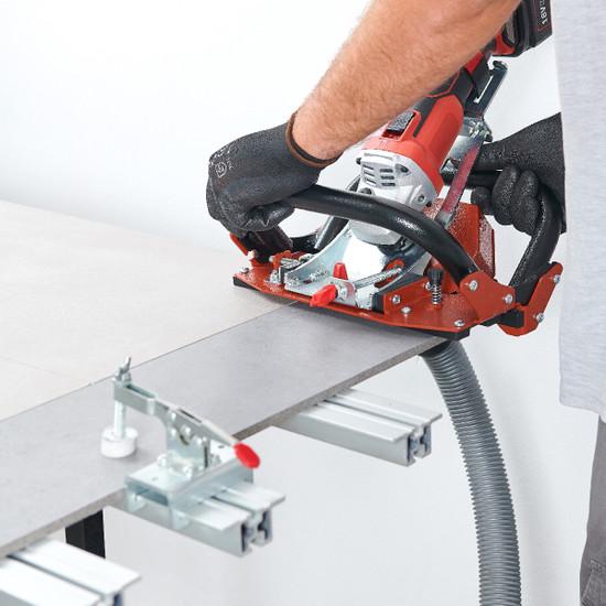 TCLF45DB Raimondi guide with vacuum on work bench