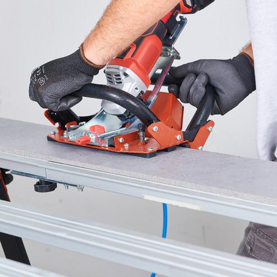 TCLF45DB Raimondi miter guide on work bench porcelain thin panel