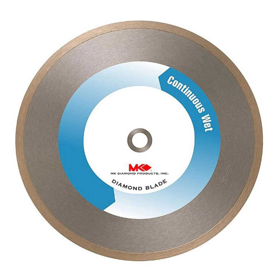 mk 215 continuous rim wet diamond blade for tile and marble