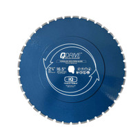 "iQ Power Tools 16.5"" Q-Drive Arrayed Segmented Porcelain Blue Blade"