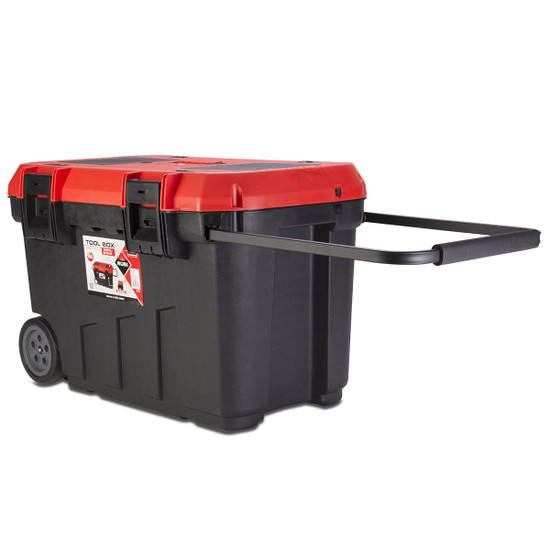 75965 Rubi Professional Rolling Tool Box carrying handle extended