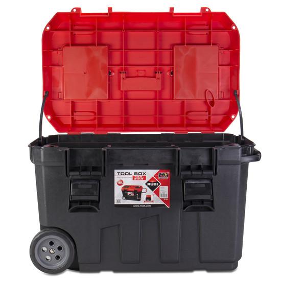 "75965 Rubi 29"" Professional Rolling Tool Box lid open"
