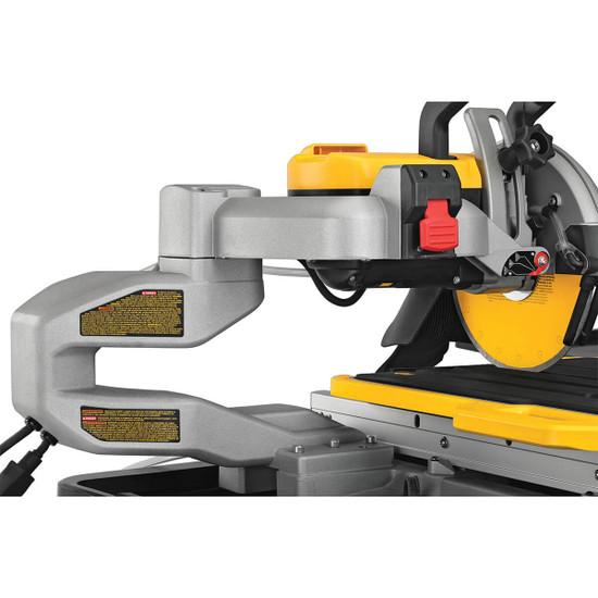 "Dewalt D36000S 36"" Tile Saw cutting head clearance"