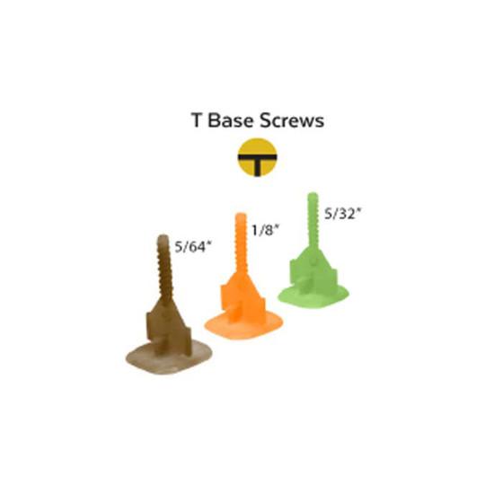 Alpha EZCLICK level T base sizes