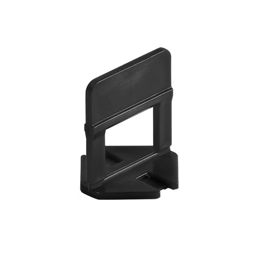 """Raimondi RLS Clip 3/32"""" joint size (2mm) grout joint spacer and a tile leveler."""