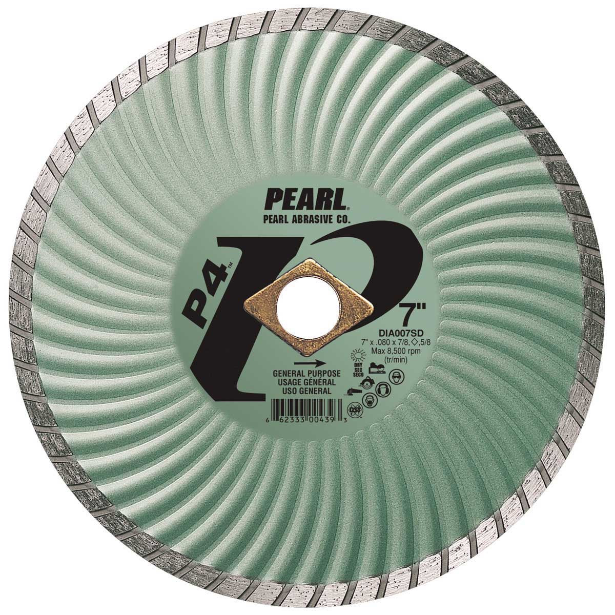 pearl sd 7in dry cutting turbo diamond blade