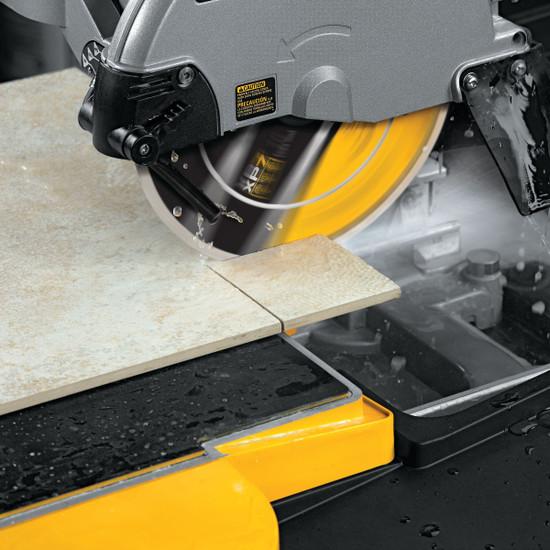 DW47057 DeWalt XP7 10 inch Tile Blade Cutting on D24000S Saw