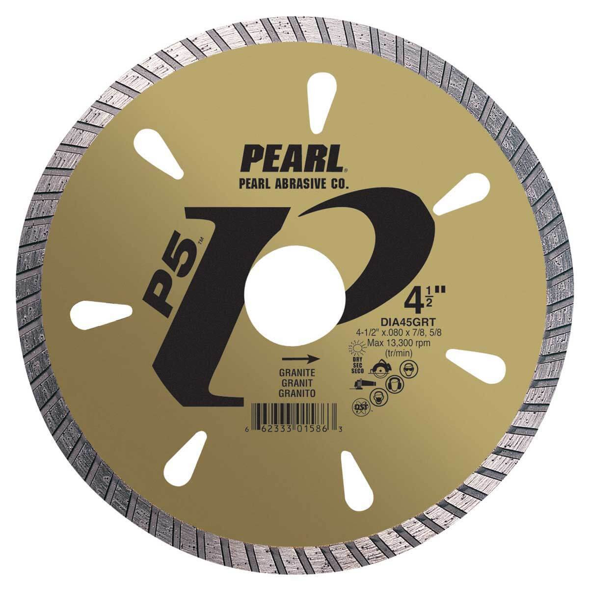 pearl grt 4 1/2in dry granite diamond blade