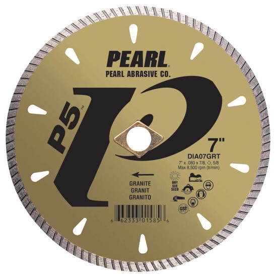pearl grt 7in dry granite diamond blade