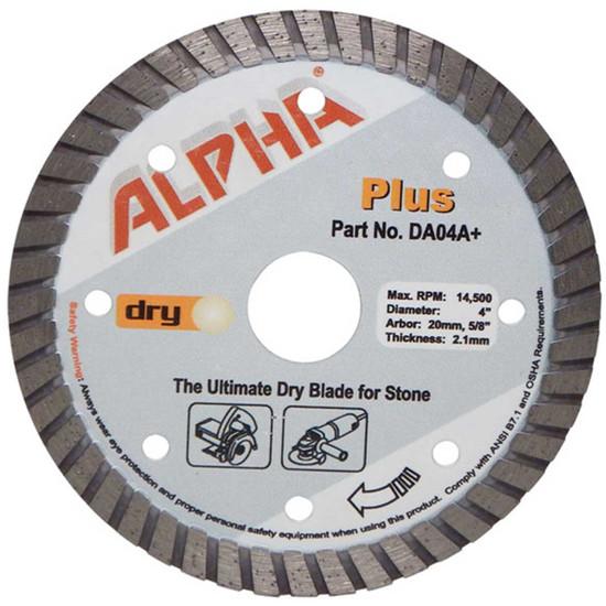 alpha plus 4in dry cutting diamond blade