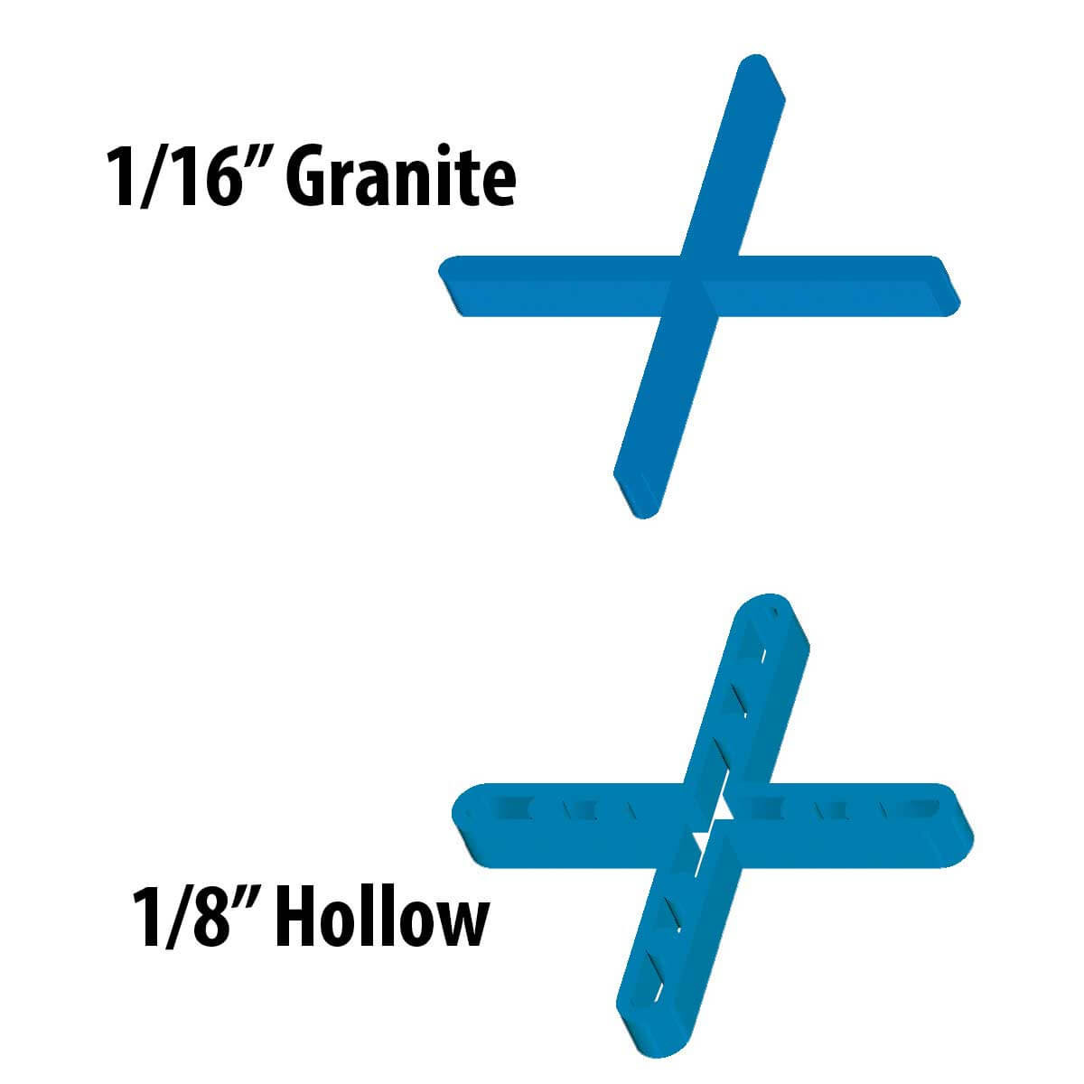 1/16th inch Barwalt Hollow Leave-In Spacers 16000