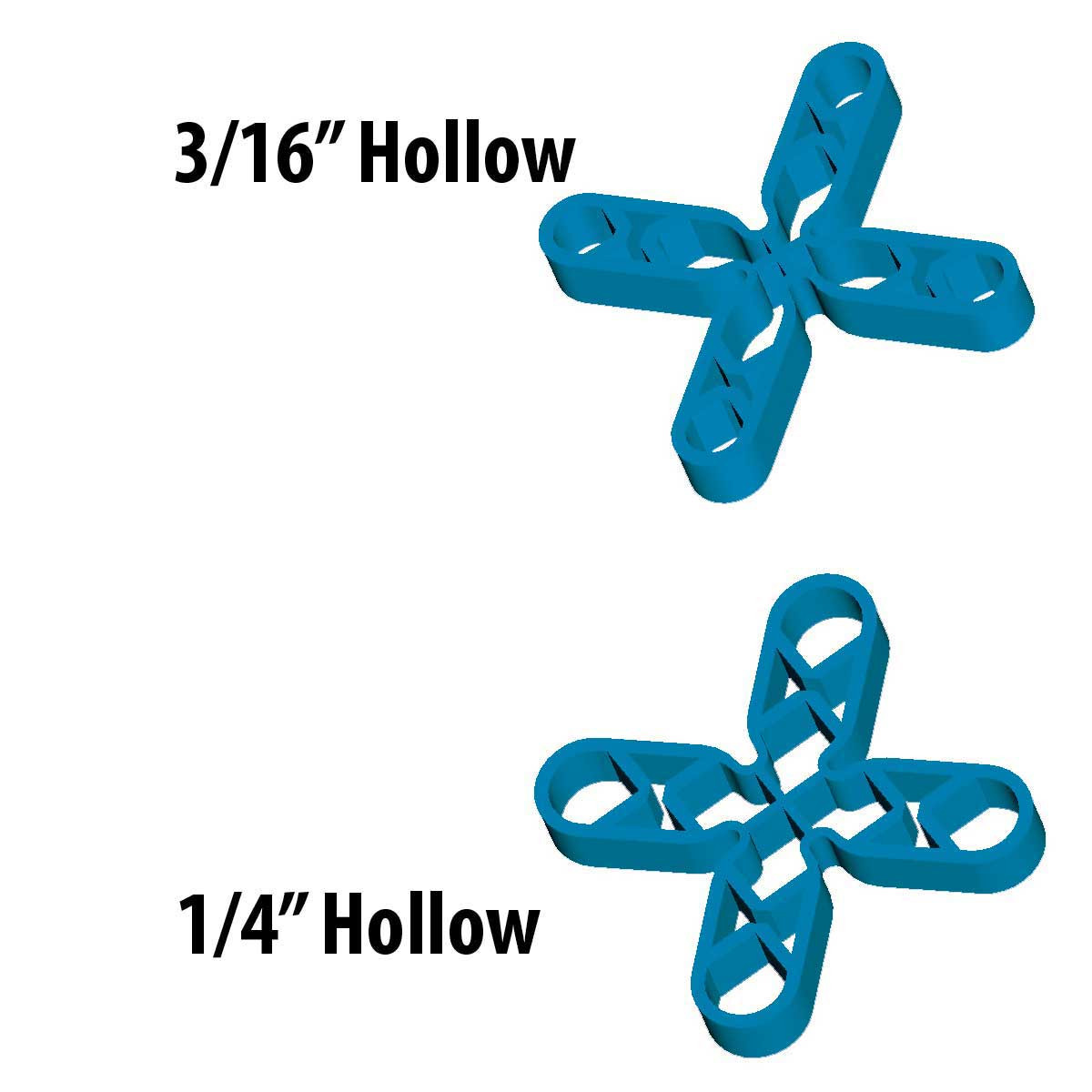 3/16th inch Barwalt Hollow Leave-In Spacers 16030