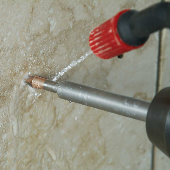 wet porcelain drilling with ptb bit