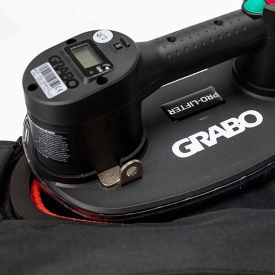 GRABO PRO-Lifter 20 digital display and tough canvas bag