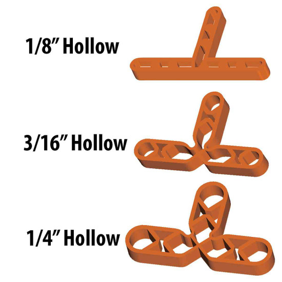 Barwalt Hollow Spacer Sizes