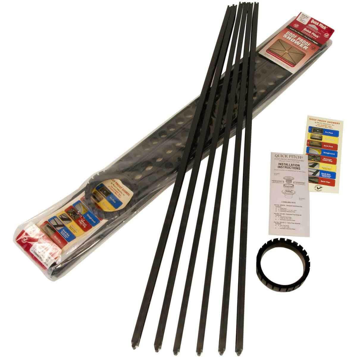QPK-101 Standard Kit Quick-Pitch Shower Floor Drainage Kit