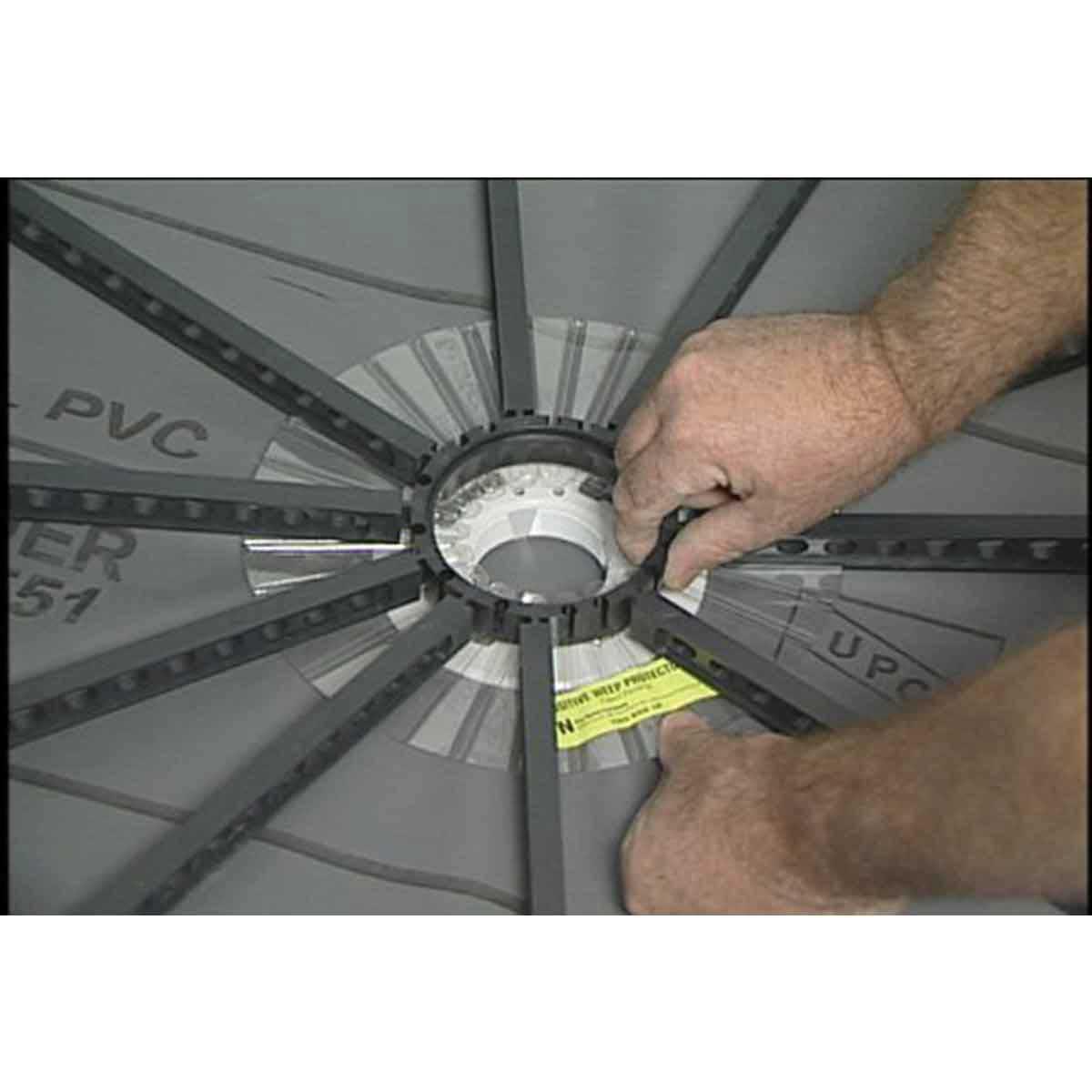 Center Ring Shower Floor Drainage Kit