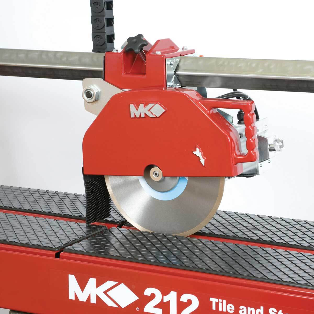MK 212-4 rail saw cutting head assembly