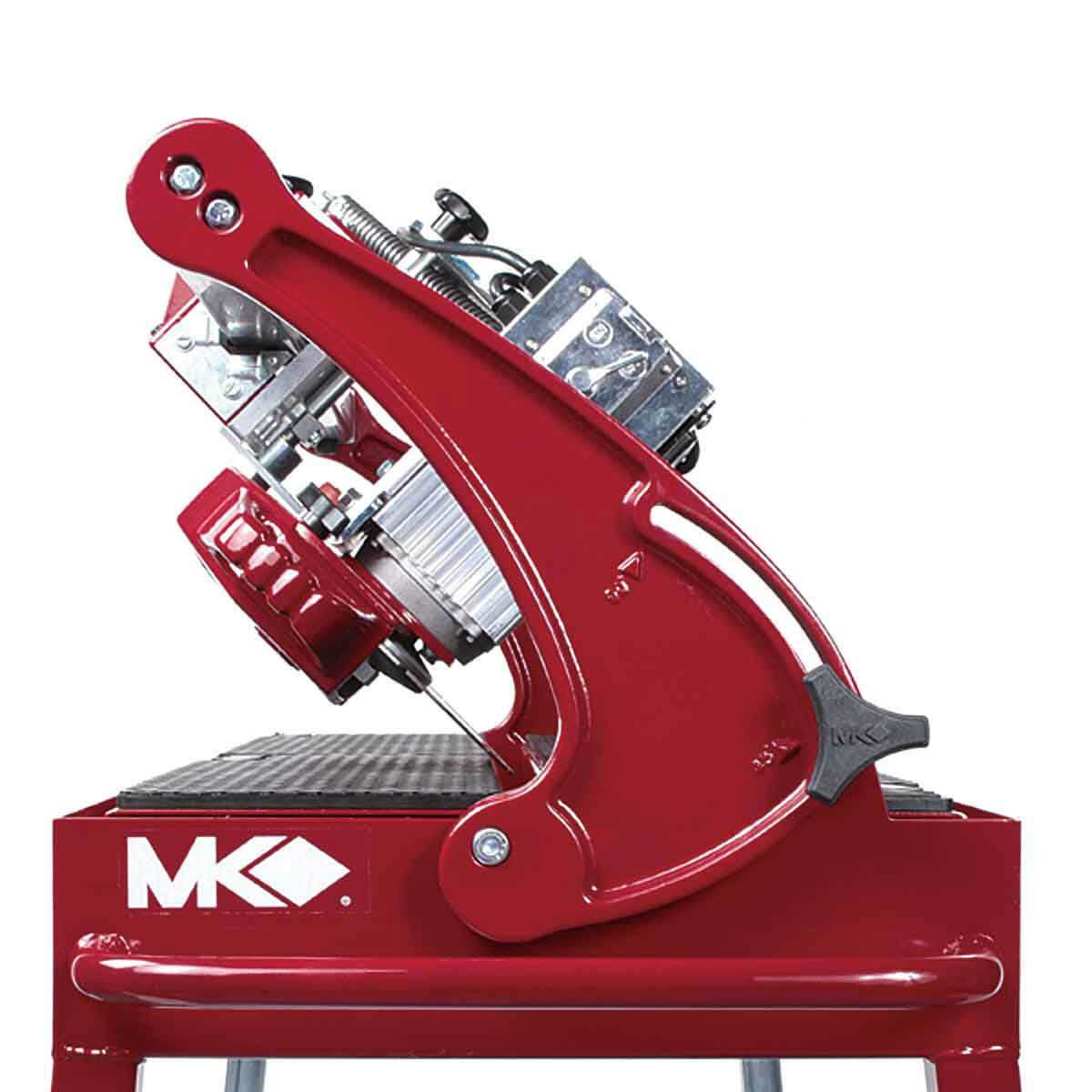 MK Diamond rail saw 45 degree cutting capability