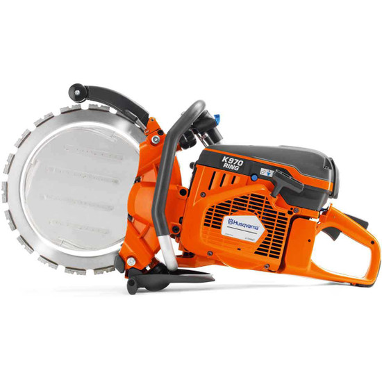 Husqvarna K970 Concrete Ring Saw Engine with X-Torq produces less emissions, lower fuel consumption and more power Diagrip Ring Blade cuts medium to soft concrete, hard concrete and brick