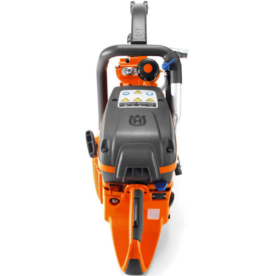 Husqvarna K970 Ring Saw petrol concrete ring saw cut through walls, ceilings and floors from one side. Since the widest part of the cutting blade is inside the material, over cutting in the corn