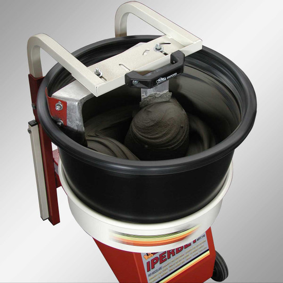 MXJPM Raimondi Iperbet Fixed paddle rotating bucket, better safety and allow operator to check the mix while mixing