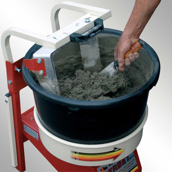 Raimondi Iperbet Powerful and Portable mixing capacity of 100 lbs, Rotating Paddle, fixed bucket, Supplied with 2 Buckets