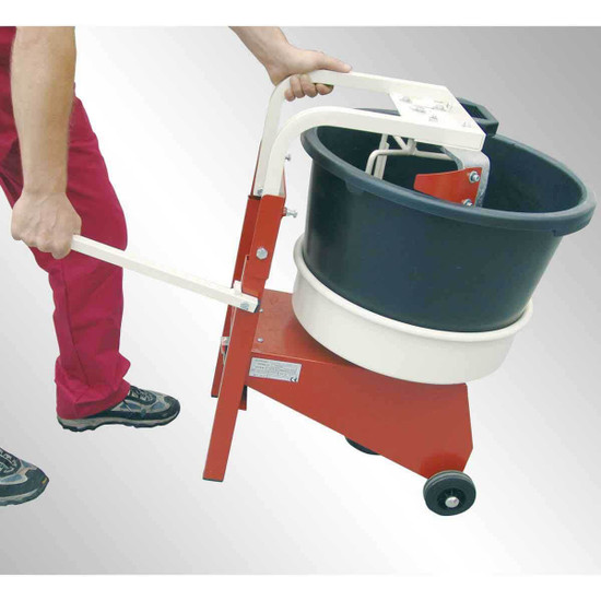 MXJPM Raimondi Iperbet Job Site Two wheels and well-positioned handle makes it easy to complete all your mixing needs with less fatigue on the worker