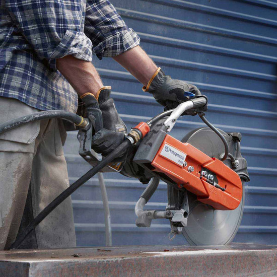 Cutting Concrete Slab with K40 Saw