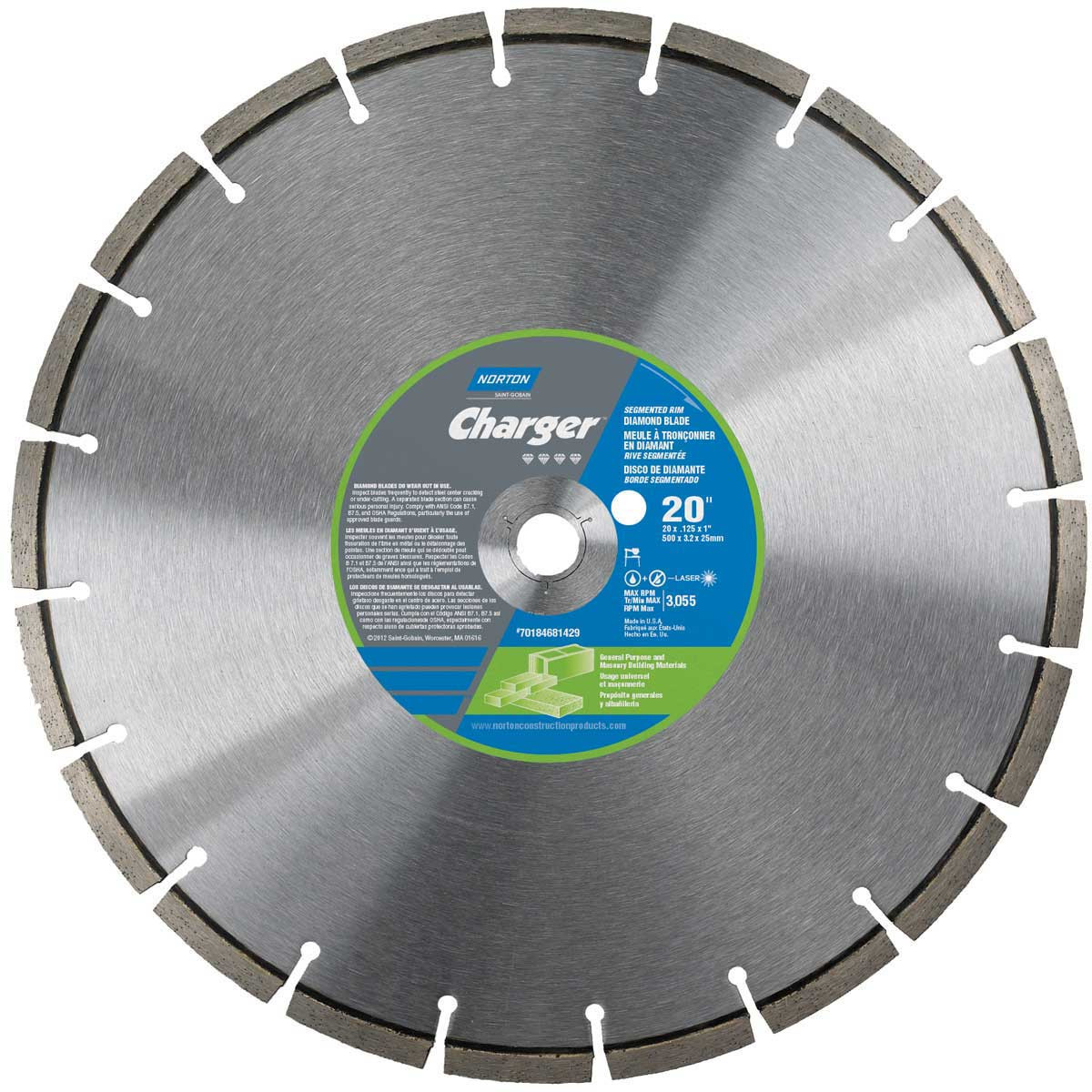 20 inch Norton Clipper Charger Masonry Saw Blade