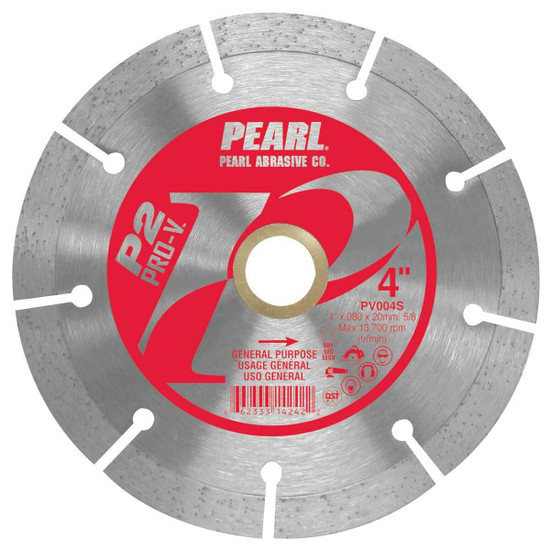 Pearl Pro-V 4 inch Segmented Masonry Blade