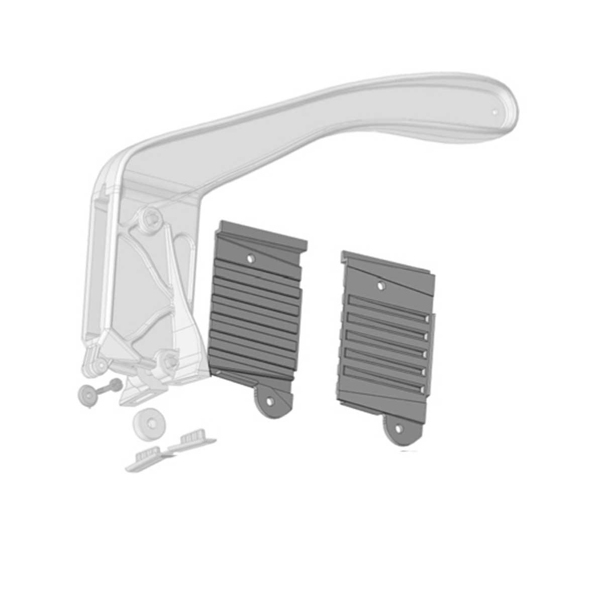 Siri White Plastic Insert handle