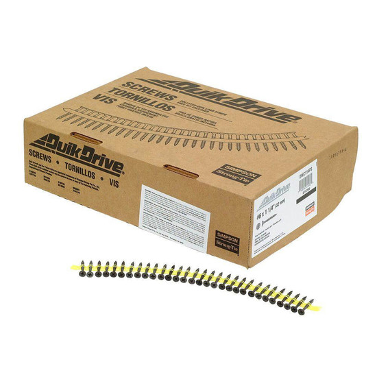 Quik Drive DWC114PS Screws in Package