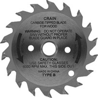 788 Crain 2-3/4 in. Carbide Tipped Steel Blade 2-3/4 in. repl blade for the Crain Toekick saw, Depth of cut 3/8 in.