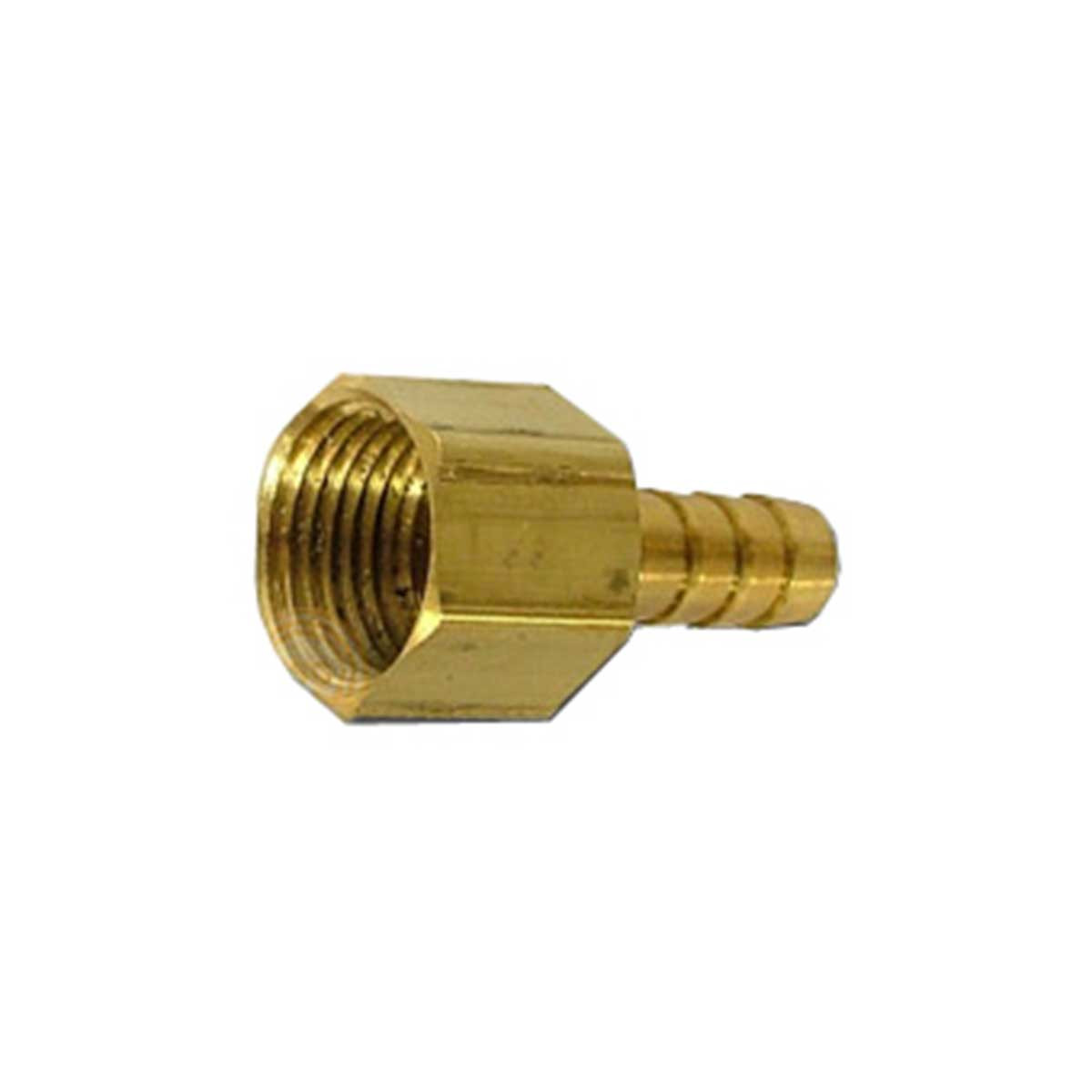Female Brass Hose Barb, 1/4