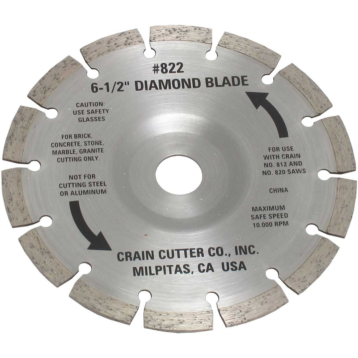 822 Crain Segmented Diamond Blade