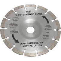 Crain 822 Segmented Diamond Blade For dry undercutting tile, stone, concrete, brick marble and granite, Crain 812 Super Cut Saw