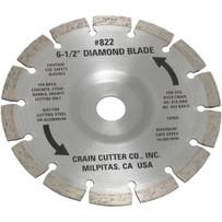 Crain 822 Segmented Diamond Blade For dry undercutting tile, stone, concrete, brick marble and granite, Crain 812 Super Cut Saw