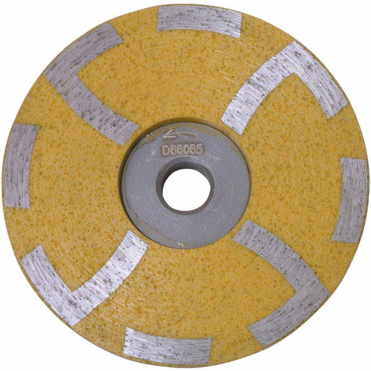 D66065 Yellow Diteq 4 inch Resin Filled Cup Wheels