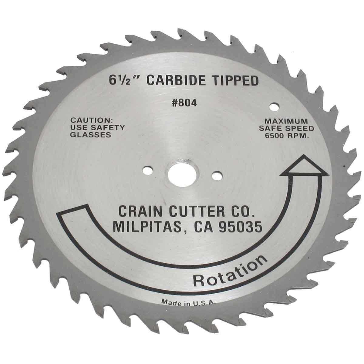 804 crain carbide wood saw blade