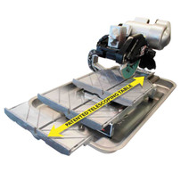Pearl VX10.2 XL tile saw with telescoping table