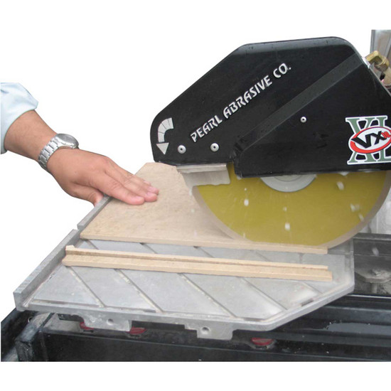 Pearl VX10.2 Wet Tile Saw Cuts Tile