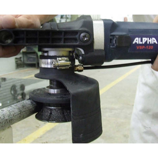 Alpha Wet Full Bullnose Bit with Angler Grinder
